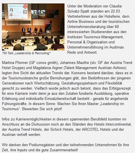 Recruiting & Leadership im Tourismus